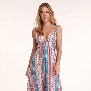 Boho maxi dress, Lulus, S, multicolor
